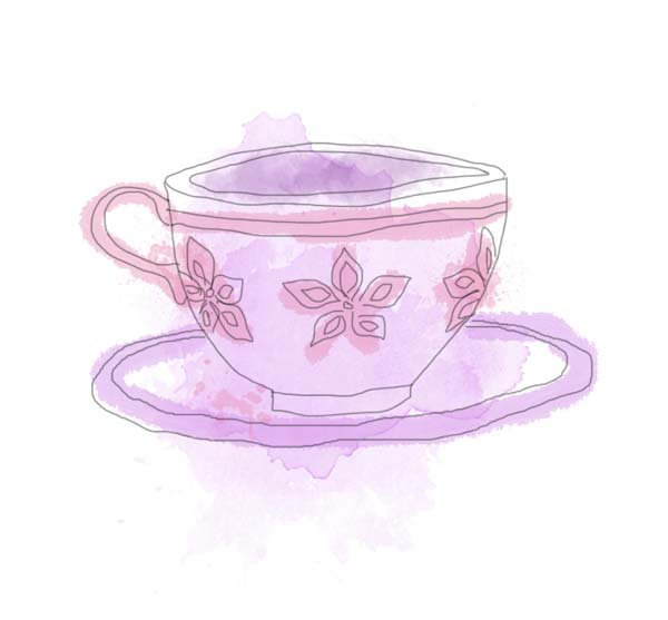 Princess Tea Party Clip Art Purple teacup