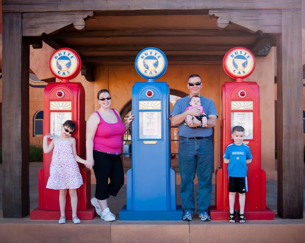 Family photo at Walt Disney World