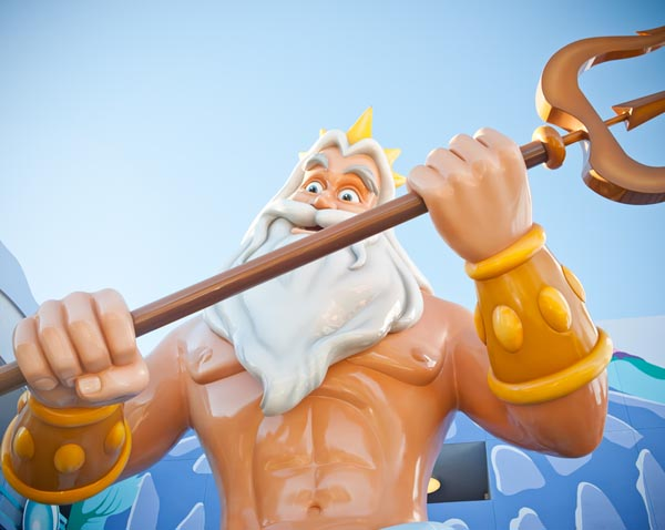 King Triton at Art of Animation