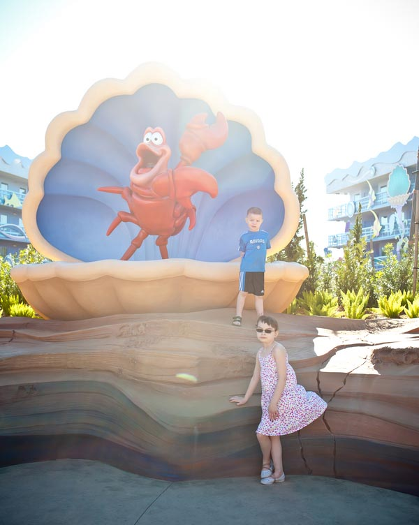 Sebastian at Art of Animation resort in Walt Disney World