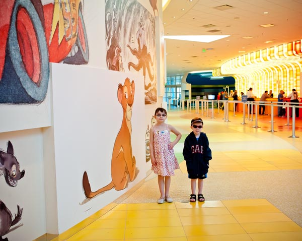 Kids in lobby at Art of Animation resort