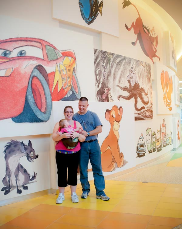 Lobby of Art of Animation resort at Walt Disney World